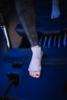 Toesox Grip Sock Heather Grey, Open Toe